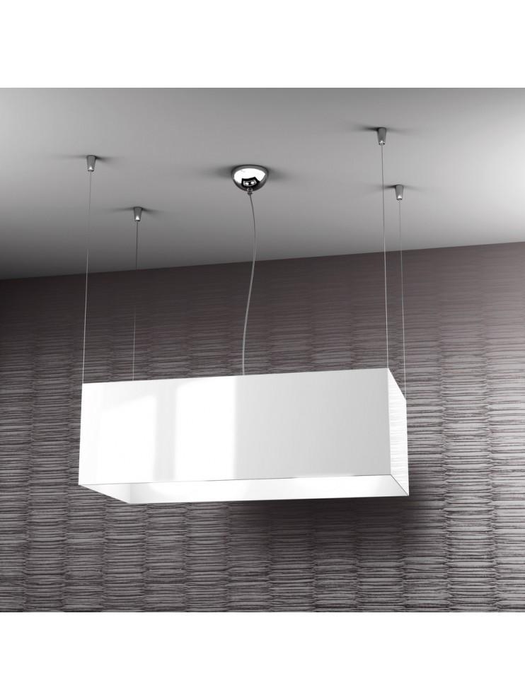 Lampadario moderno 2 luci bianco tpl 1112-sbi