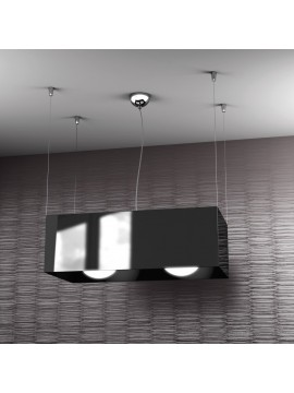 Modern chandelier 2 lights black tpl 1112-sne