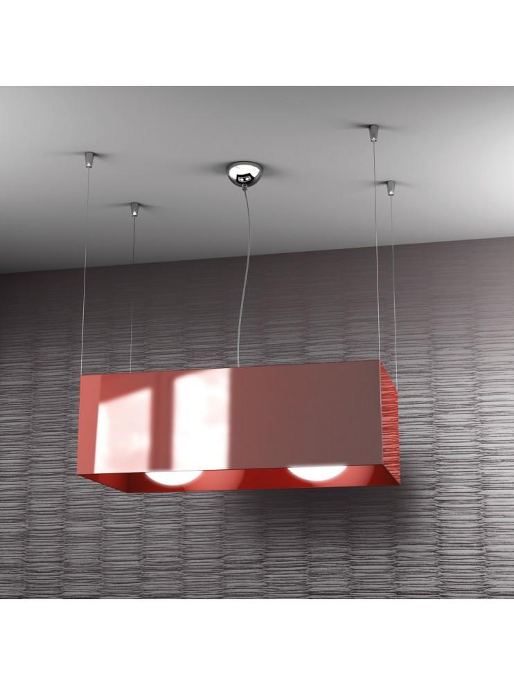 Lampadario moderno 2 luci rosso tpl 1112-sro