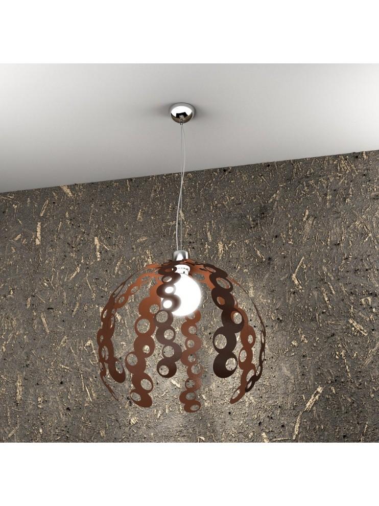 Lampadario moderno 1 luce ruggine tpl 1118/s-co