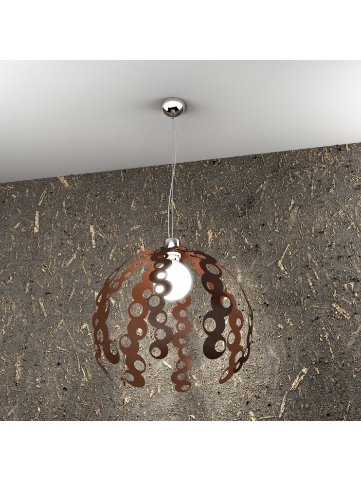 Modern chandelier 1 light rust tpl 1118 / s-co