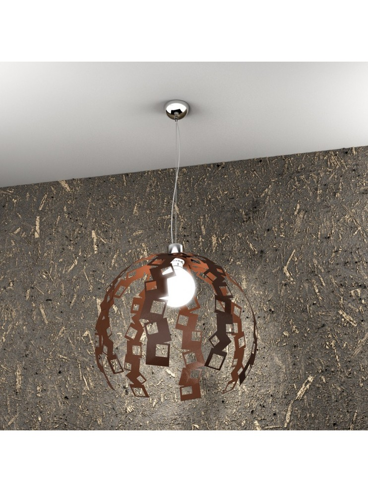 Modern chandelier 1 light rust tpl 1119 / s-co