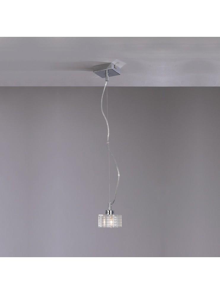 Modern chandelier 1 light tpl glass 1047-s1g