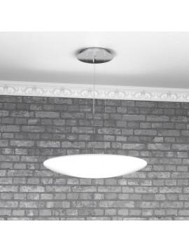 Lampadario moderno 3 luci vetro bianco tpl 1100-s50