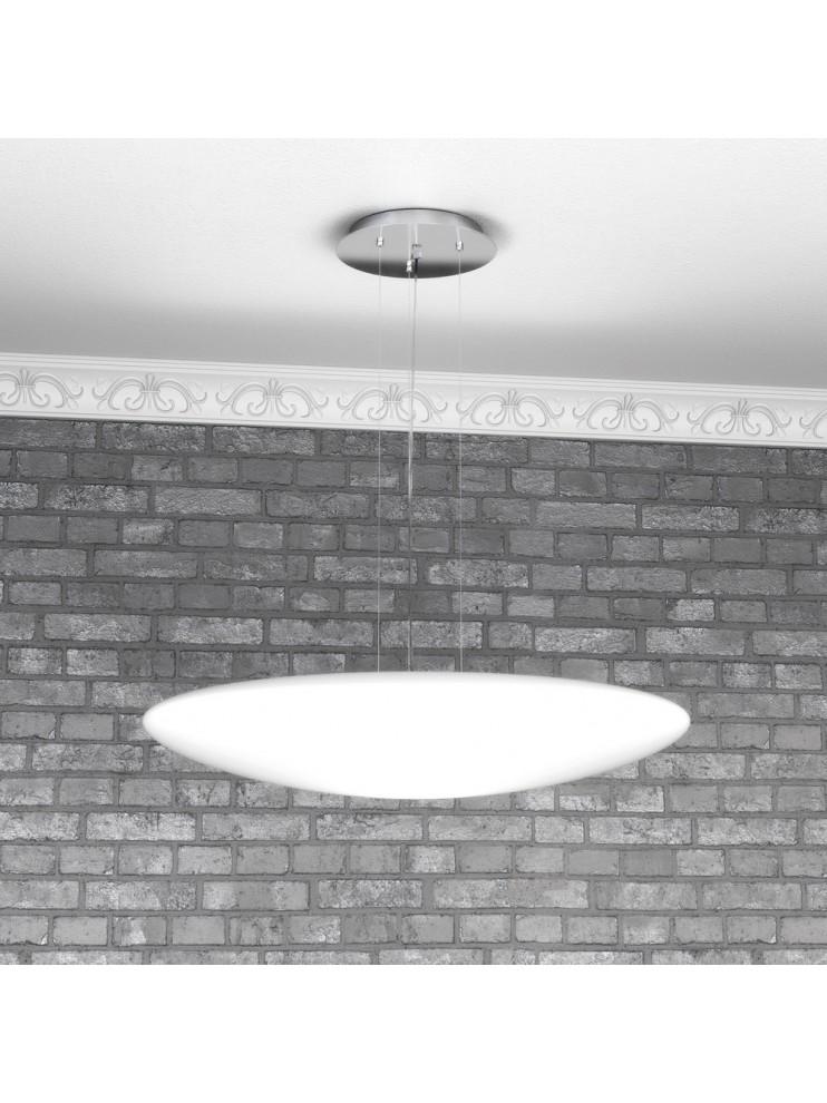 Modern chandelier 3 lights white glass tpl 1100-s60