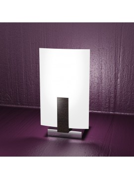 Lumetto moderno 1 luce legno wengè tpl 1019-pw
