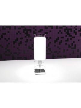 Chromed modern table lamp 1 light white tpl 1078-p