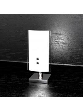 Lumetto moderno 1 luce vetro bianco tpl 1076-p