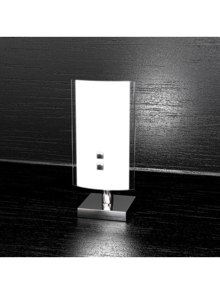 Modern table lamp 1 light white glass tpl 1076-p