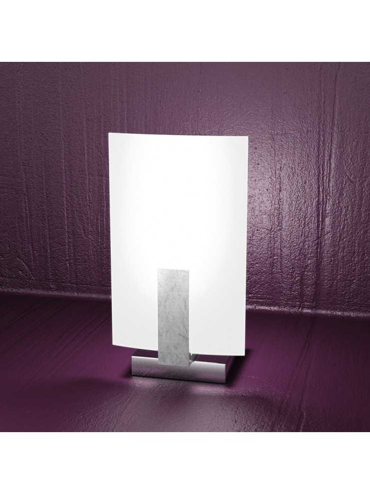 Lumetto moderno 1 luce foglia argento tpl 1019-pfa