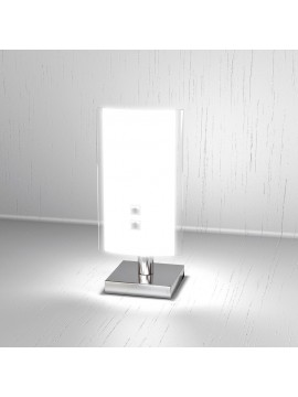 Lumetto moderno 1 luce vetro bianco tpl 1087-pbi