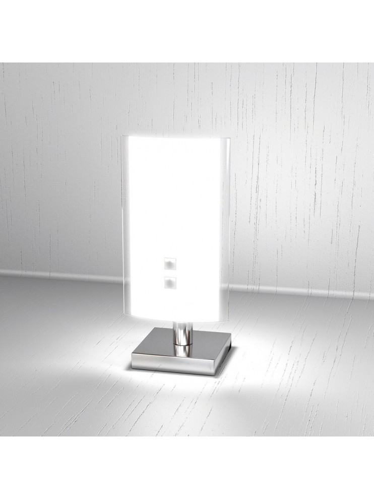 Modern table lamp 1 light tpl white glass 1087-pbi