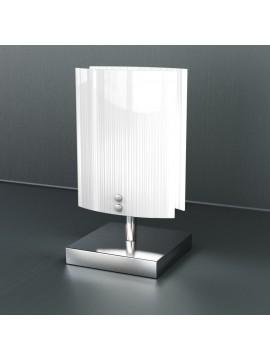 Lumetto moderno 1 luce vetro bianco tpl 1074-pbi