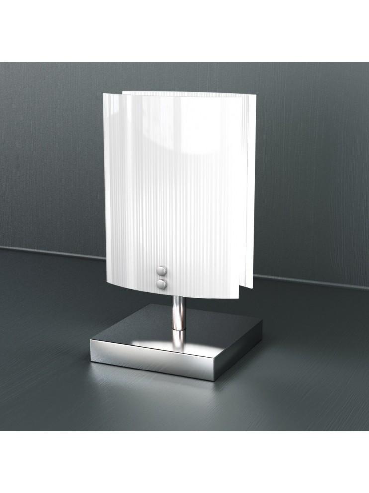 Modern table lamp 1 light white glass tpl 1074-pbi