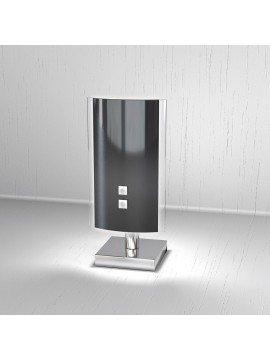 Modern table lamp 1 light black glass tpl 1087-pne