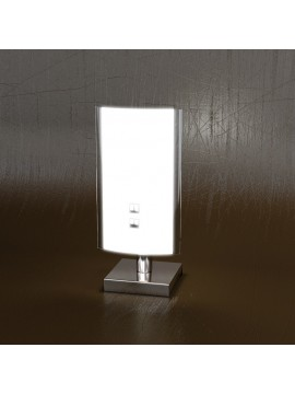 Lumetto moderno 1 luce vetro bianco tpl 1088-pbi