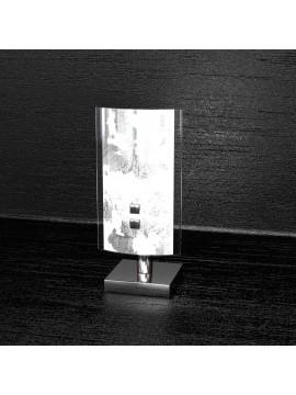 Applique 2 luci moderno vetro bianco-nero tpl1089-a30ne