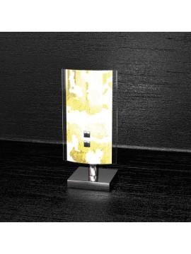 Lumetto moderno 1 luce foglia oro tpl 1089-pfo