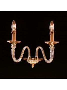Classic gold crystal sconce 2 lights Design Swarovsky Anita