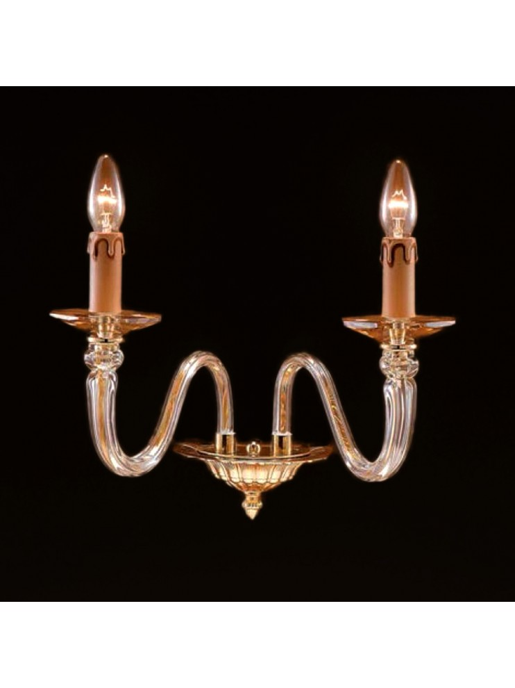 Applique in cristallo oro classico 2 luci Design Swarovsky Anita