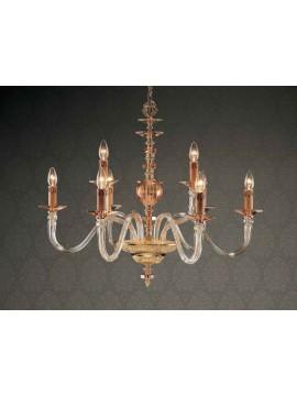 Lampadario in cristallo oro classico 9 luci Design Swarovsky Anita