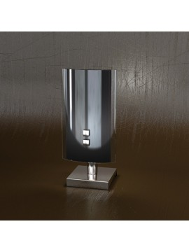 Lumetto moderno 1 luce vetro nero tpl 1088-ne
