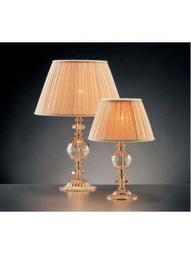 Small table lamp in classic gold crystal 1 light Design Swarovsky Anita