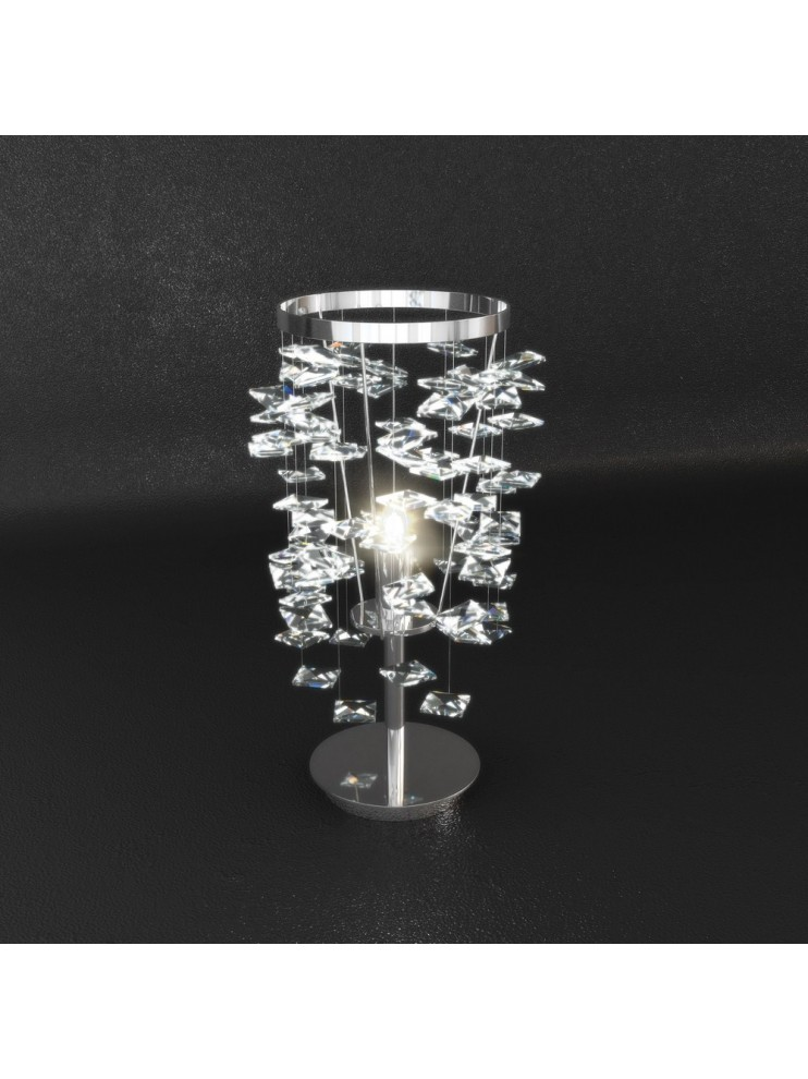 1 light modern table lamp with tpl crystals 1110-p