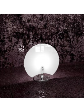 Lumetto moderno 1 luce vetro bianco tpl 1114/p