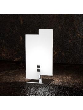 Lumetto moderno 1 luce vetro bianco tpl 1120/p