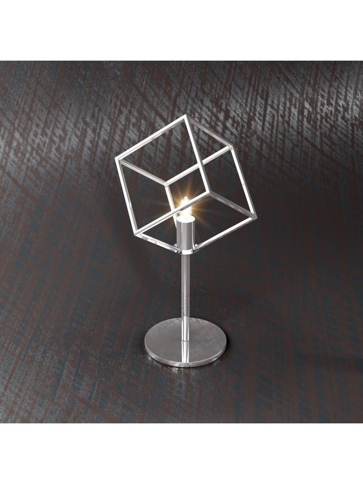 Lumetto moderno 1 luce cromato design tpl 1125-p