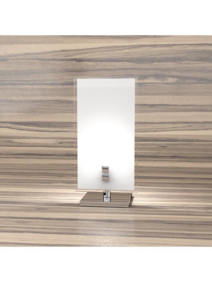 Lumetto moderno 1 luce con vetro design tpl 1122-p