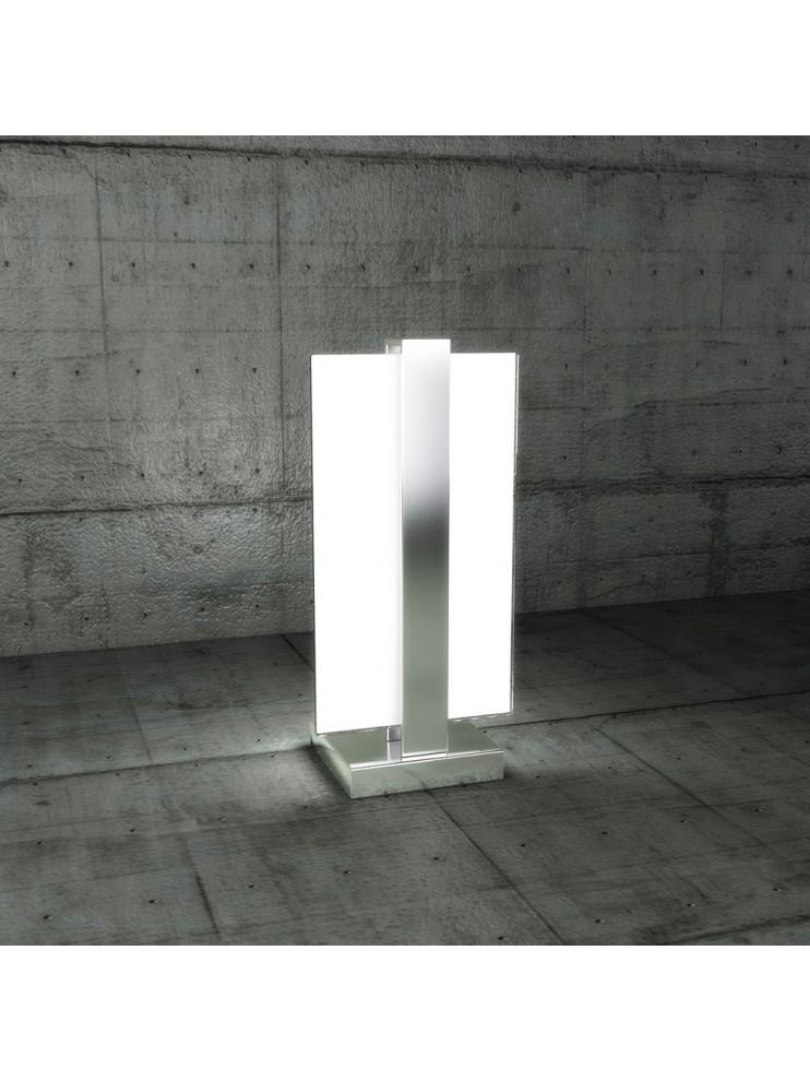 Lumetto moderno 1 luce vetro bianco tpl 1106-pcr