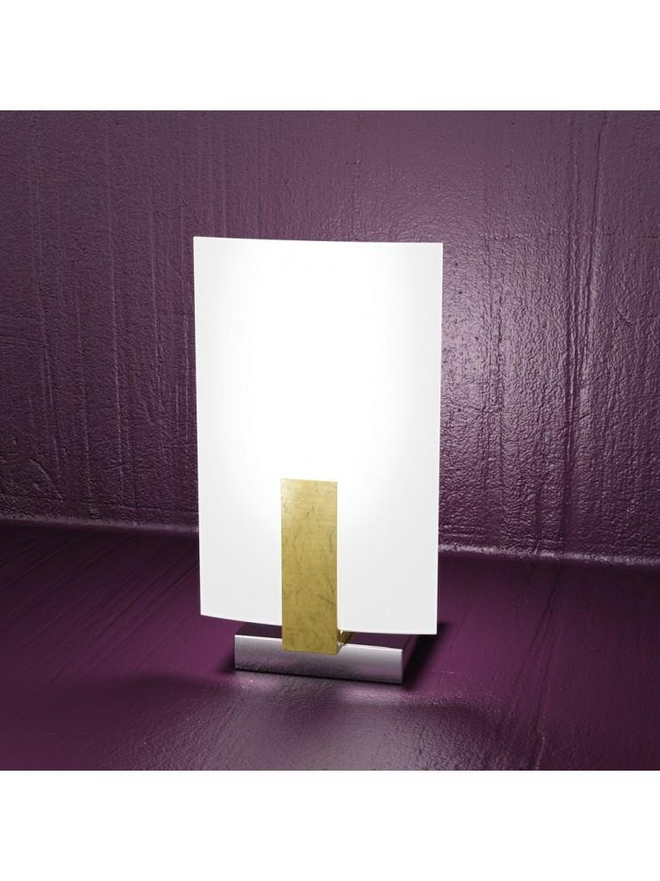 Lumetto moderno 1 luce foglia oro tpl 1019-pfo