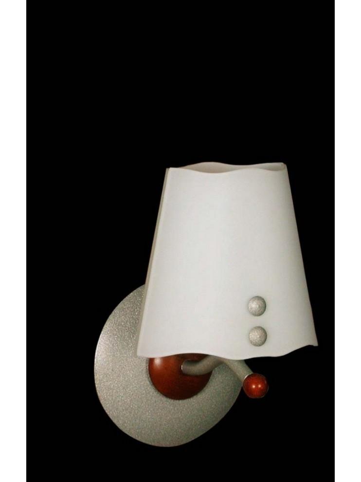 Applique moderno con legno e vetro 1 luce BGA 1089