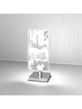 Modern table lamp 1 light silver leaf tpl 1087-pfa