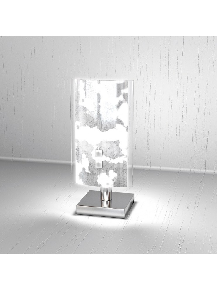 Lumetto moderno 1 luce foglia argento tpl 1087-pfa