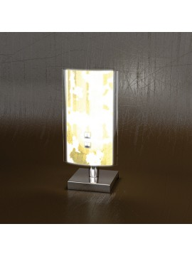 Lumetto moderno 1 luce foglia oro tpl 1087-pfo