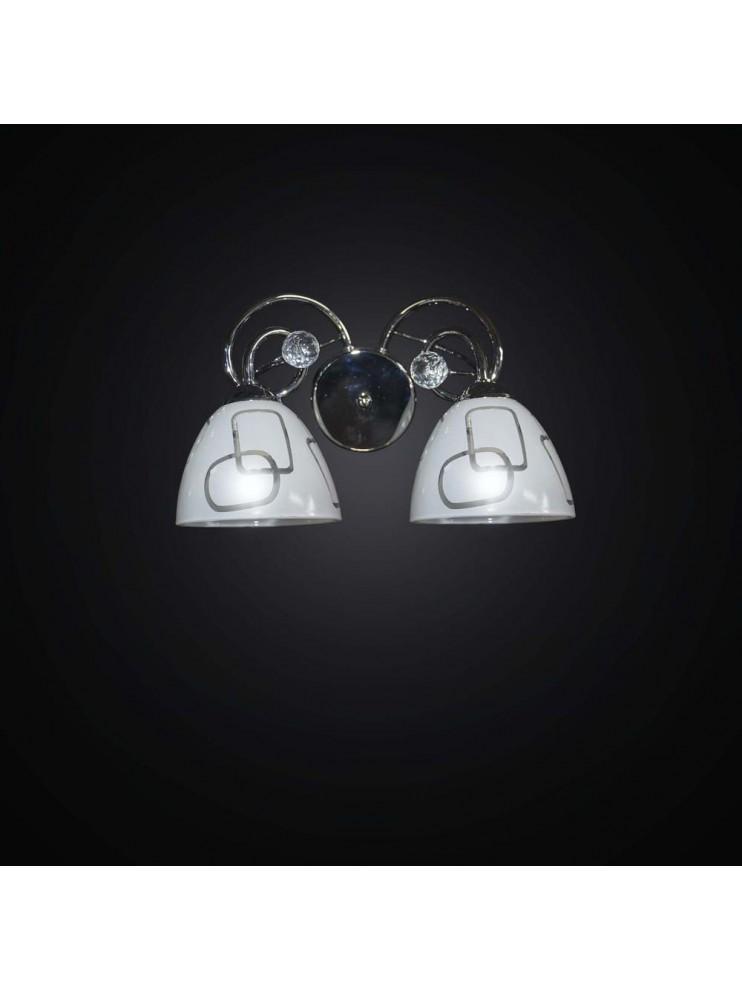 Applique moderno cromato 2 luci BGA 2464-A2
