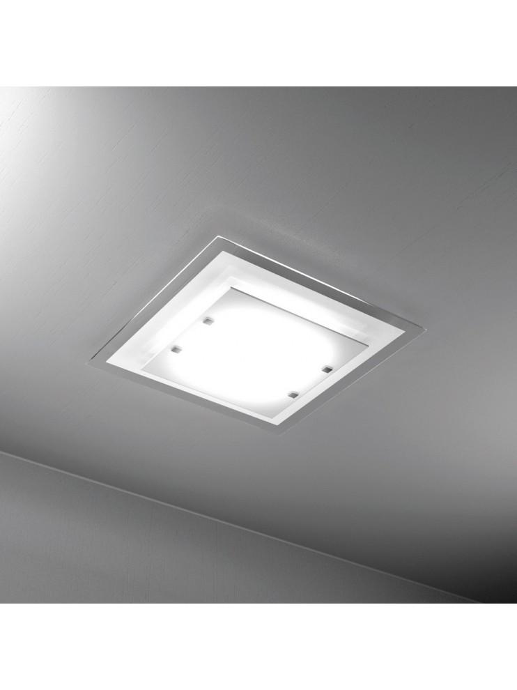 Modern ceiling light 2 lights tpl white glass 1087-pl45bi