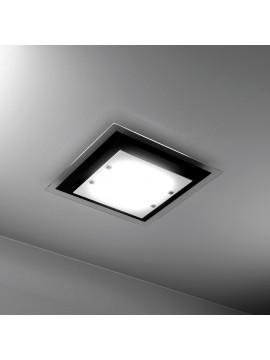 Plafoniera moderna 2 luci vetro nero tpl 1087-pl45ne