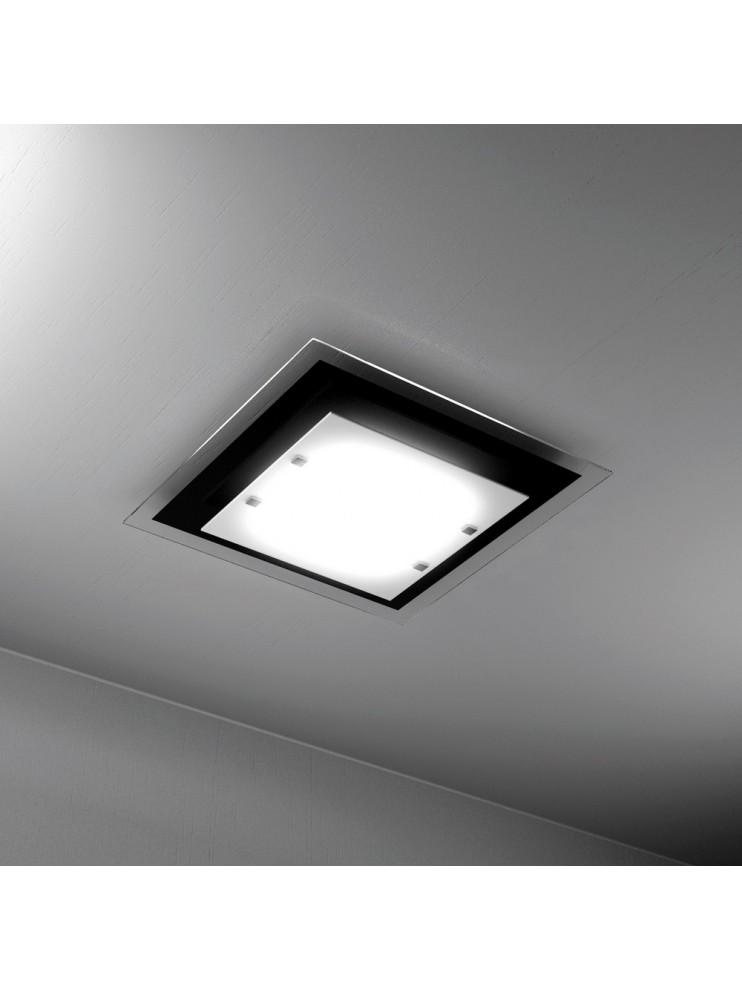 Modern ceiling light 2 lights black glass tpl 1087-pl45ne