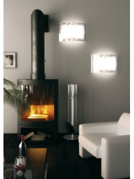 Plafoniera moderna 3 luci foglia argento tpl 1089-pl45fa