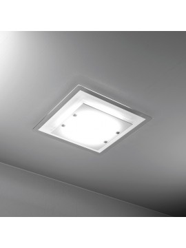 Plafoniera moderna 4 luci vetro bianco tpl 1087-pl60bi