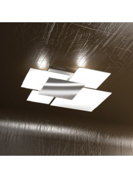 Modern ceiling light 4 lights tpl glass 1088-pl70bi