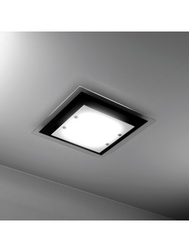 Plafoniera moderna 4 luci vetro nero tpl 1087-pl60ne