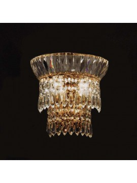 Crystal sconce 2 lights gold with Voltolina New Orleans pendants