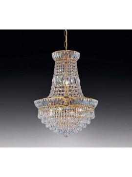 Lampadario in cristallo trasparente 6 luci oro Voltolina New Orleans
