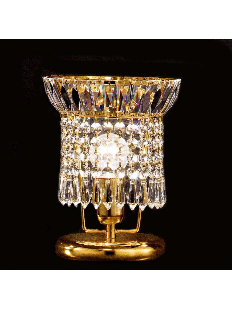 Classic 1 light gold crystal table lamp Voltolina New Orleans