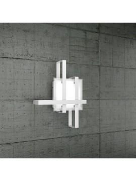 Plafoniera moderna 2 luci design in vetro tpl 1106-50bi